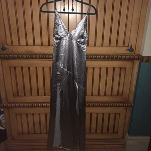 LF silver dress with slits